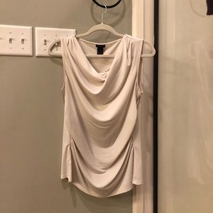 Off white cowl neck top
